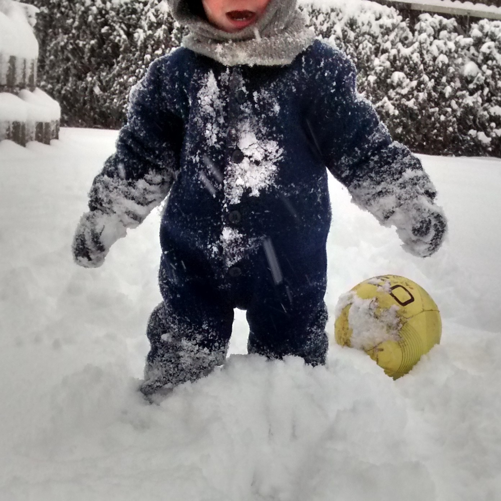 Unter diesen Schneemassen blieben die Füße warm und trocken - in den Behrens Lana.